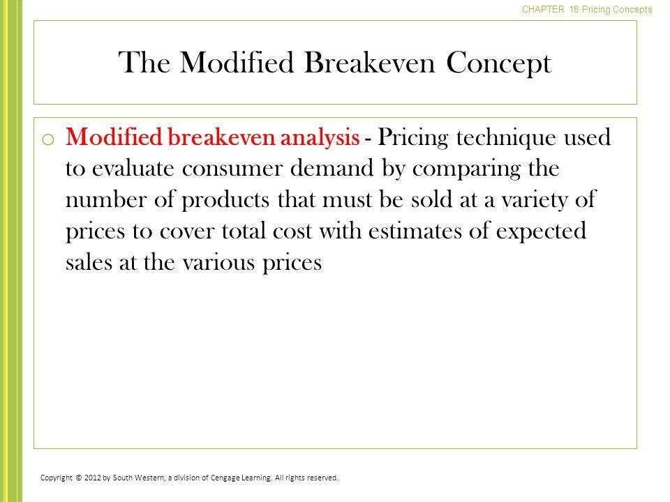 The Modified Breakeven Concept