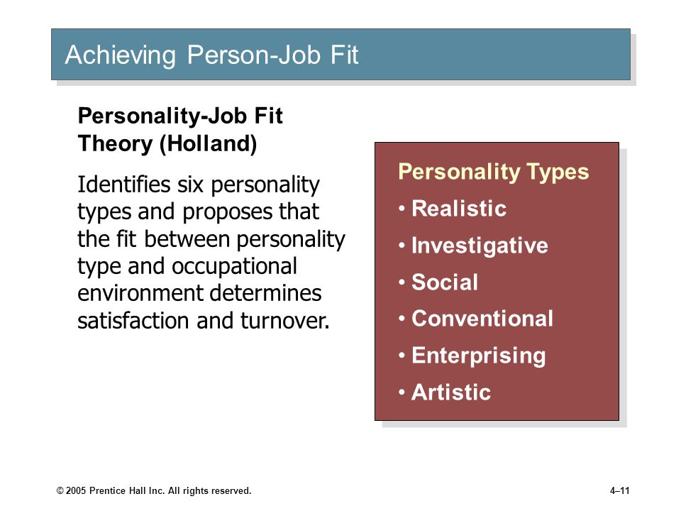 relationship between personality type and job satisfaction