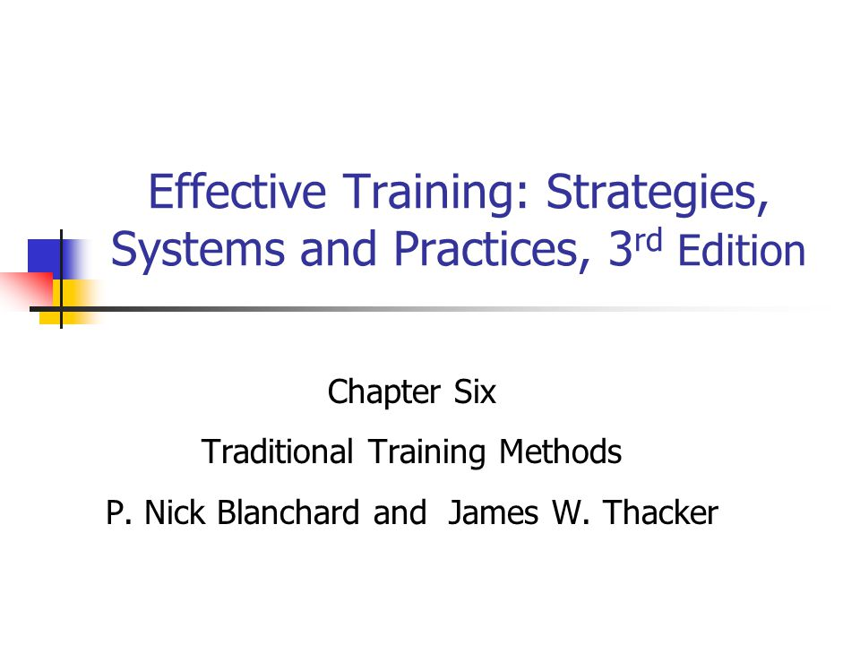 Effective Training: Strategies, Systems and Practices, 3rd Edition
