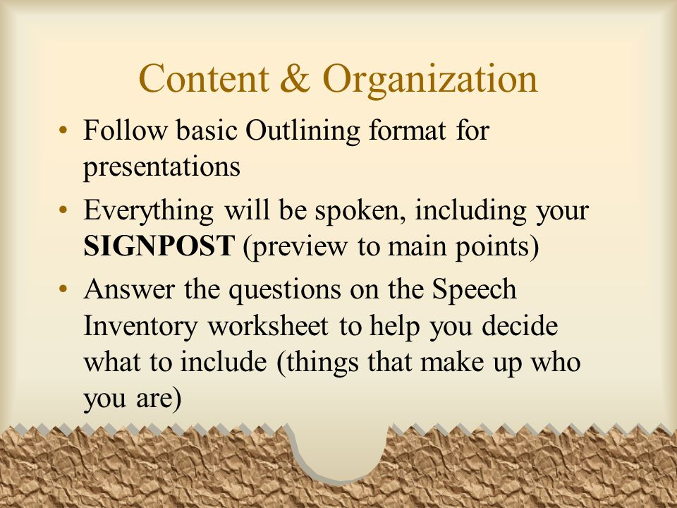 "bag speech outline Free persuasive speech outline - absolutely essential for your speech  "" ""being passed from the rear is a bag for your contribution to this noble cause,."
