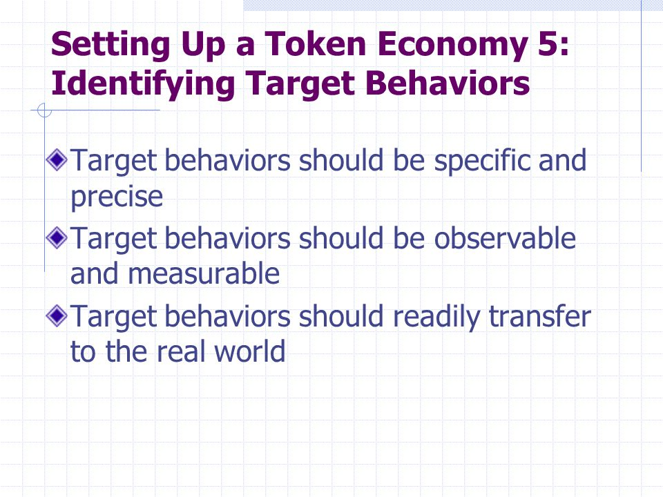 Setting Up a Token Economy 5: Identifying Target Behaviors