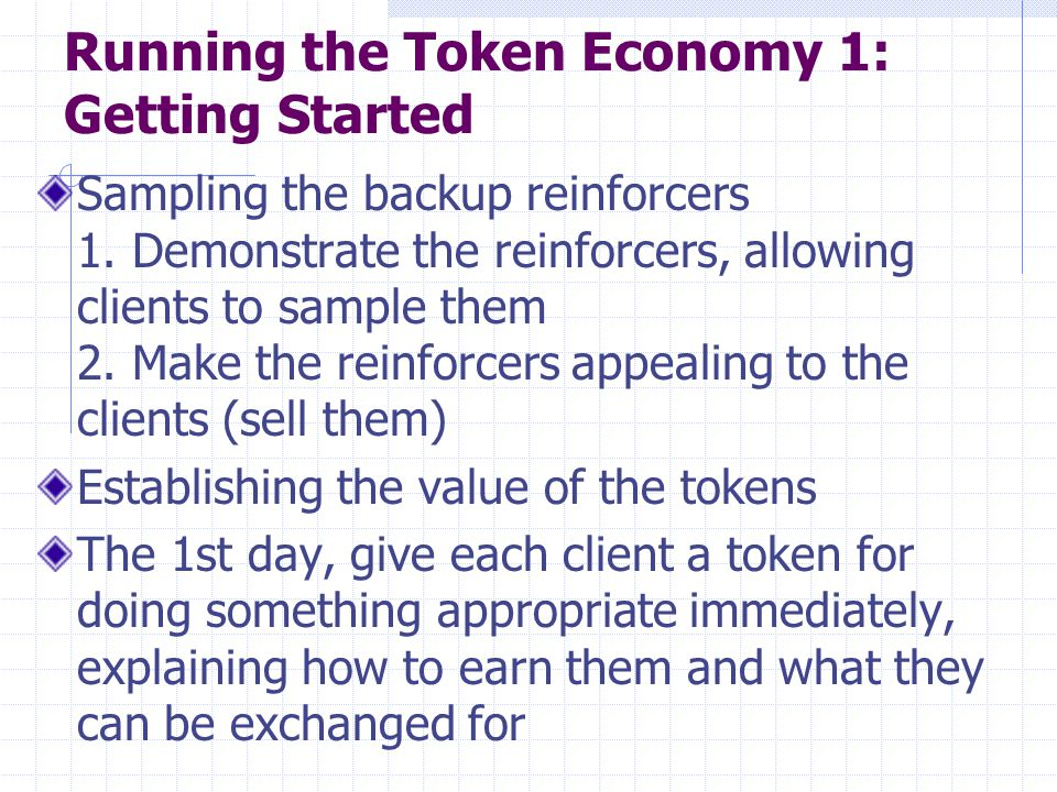Running the Token Economy 1: Getting Started