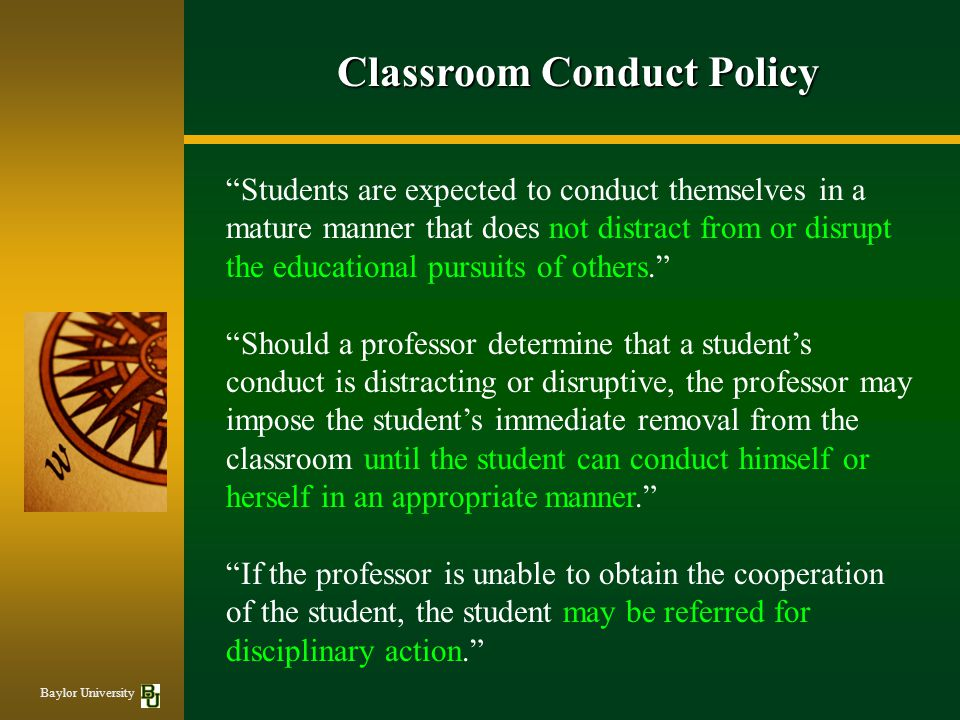 Classroom Conduct Policy