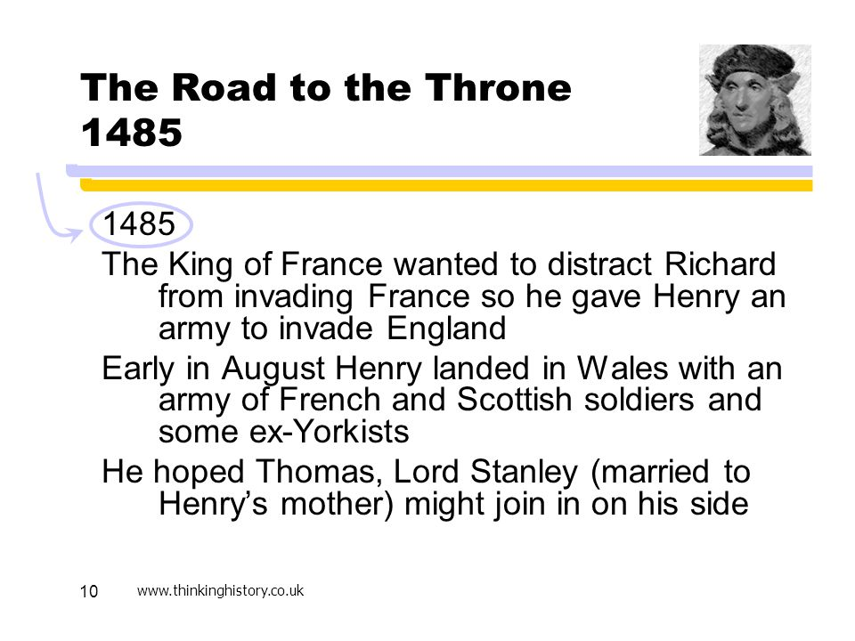 Active Learning April 17. The Road to the Throne 1485. 1485.