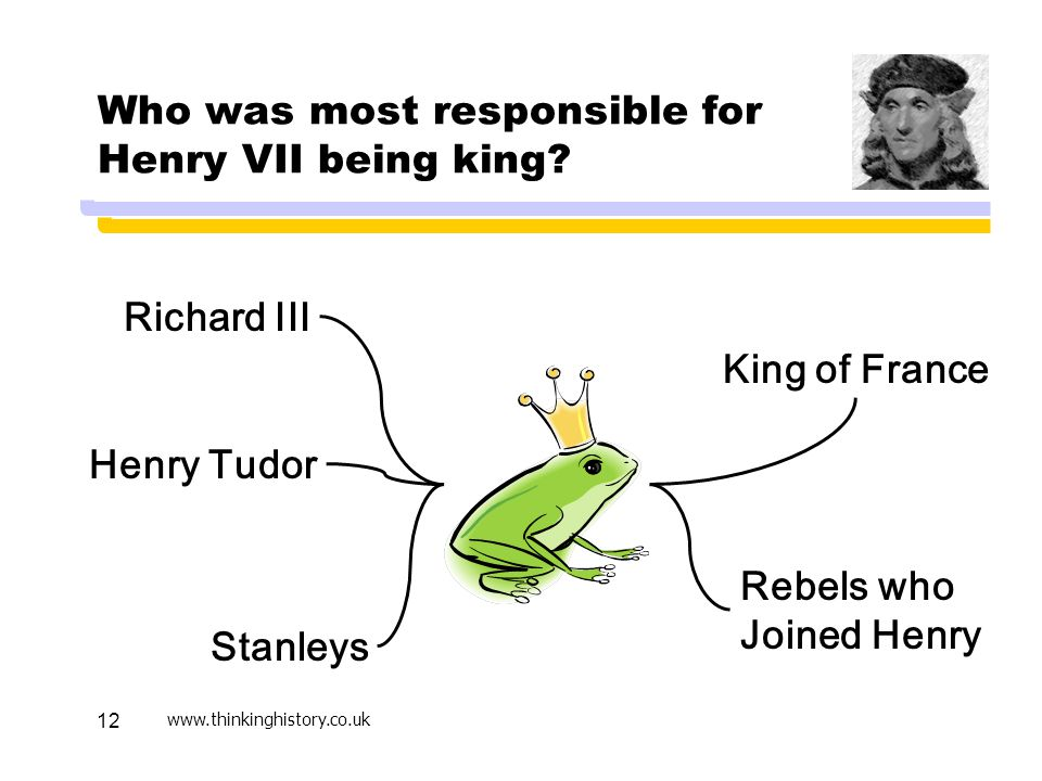 Who was most responsible for Henry VII being king