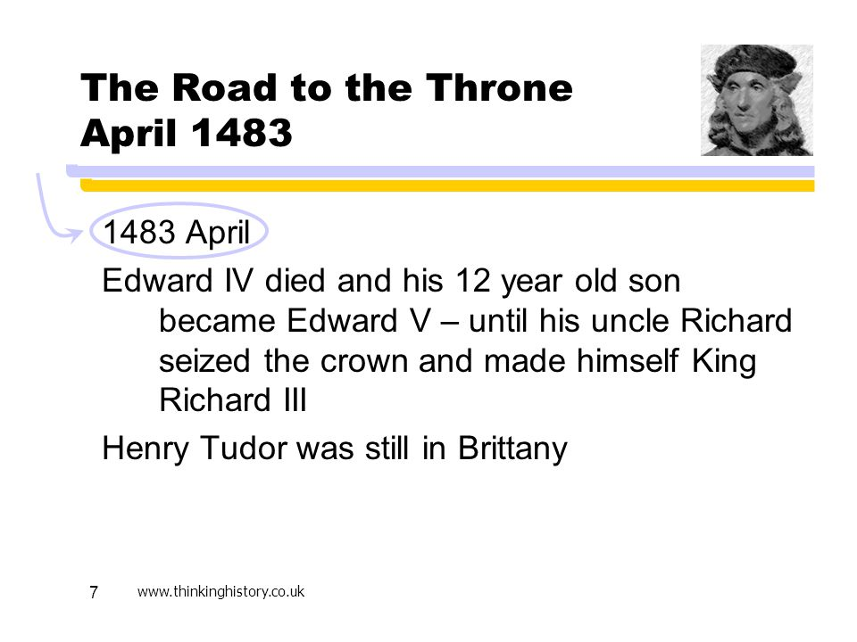 The Road to the Throne April 1483