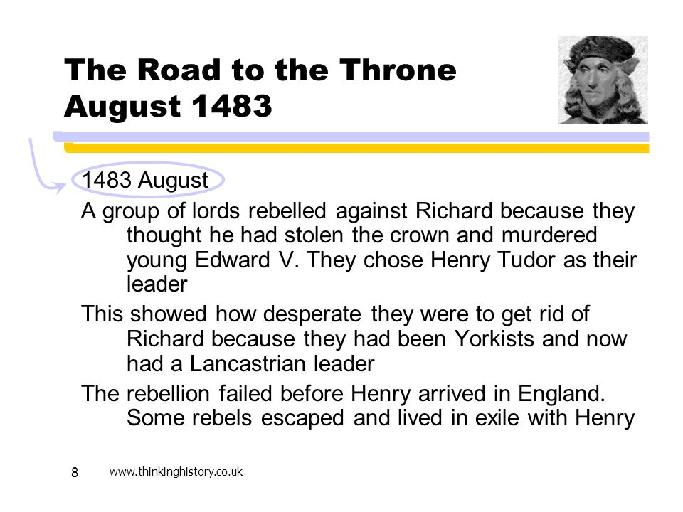 The Road to the Throne August 1483