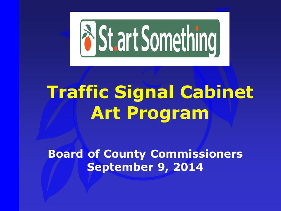 Traffic Signal Cabinet Board of County Commissioners