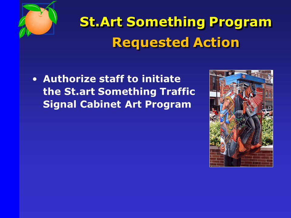 St.Art Something Program Requested Action