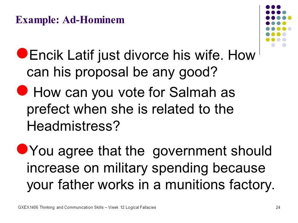 Encik Latif just divorce his wife. How can his proposal be any good
