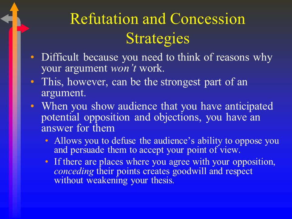 Refutation and Concession Strategies