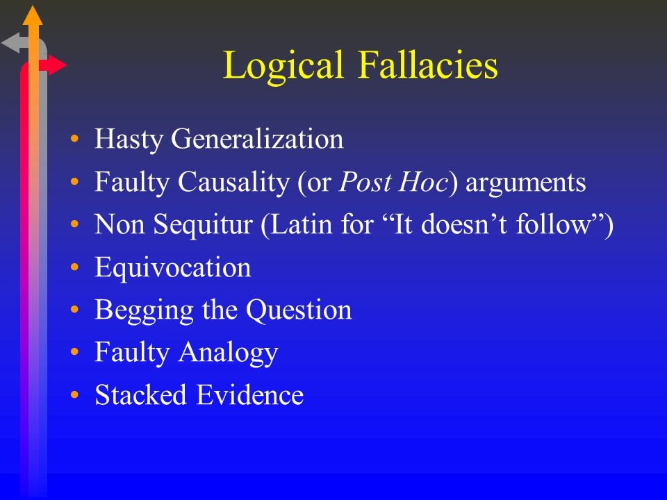 Logical Fallacies Hasty Generalization