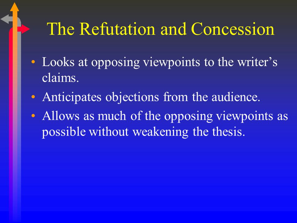 The Refutation and Concession