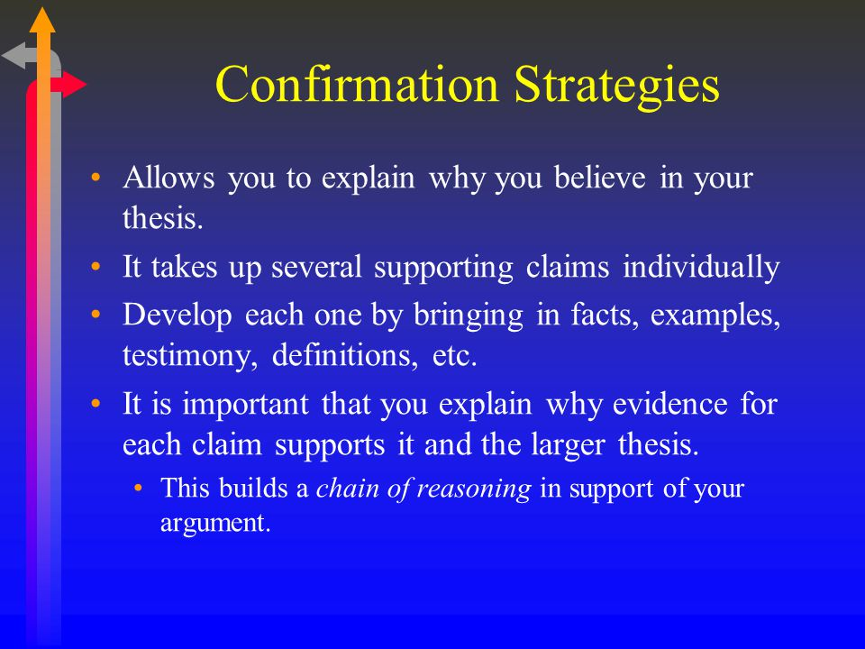 Confirmation Strategies