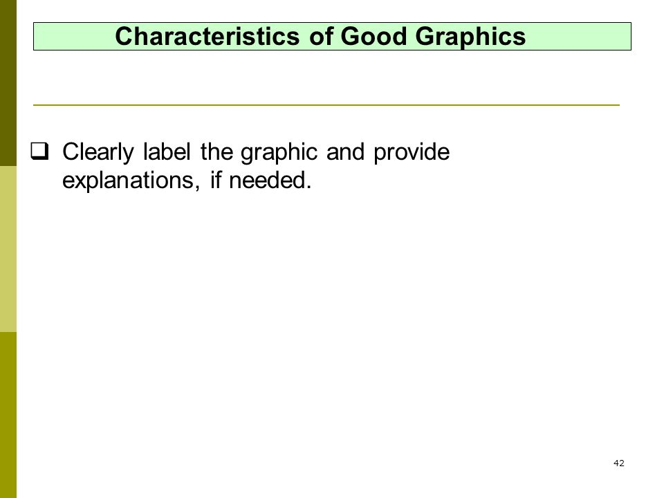 Characteristics of Good Graphics