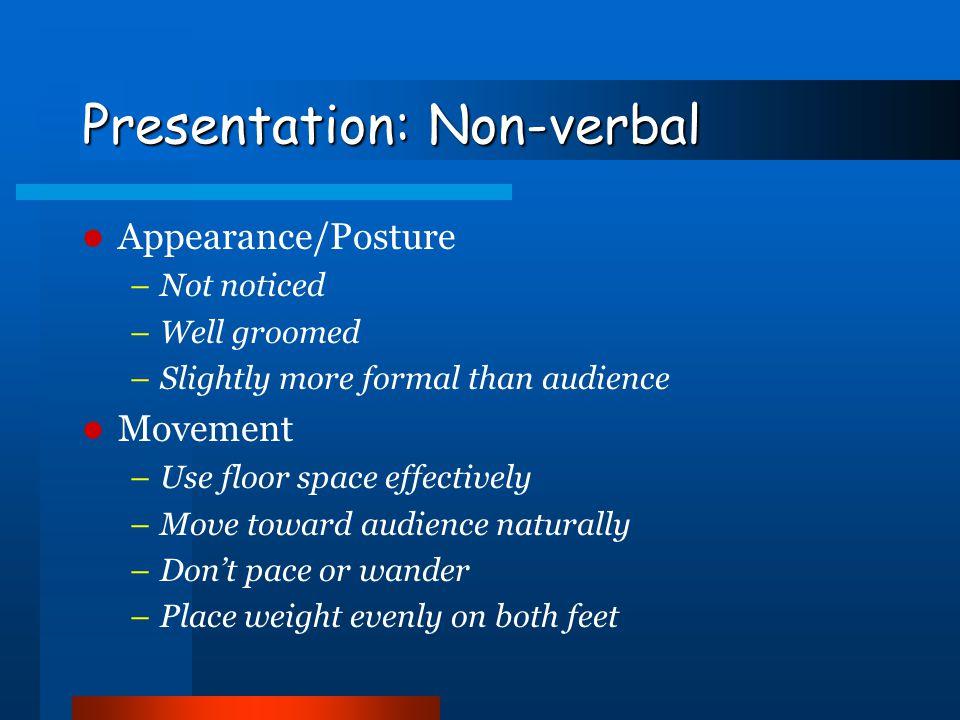 Presentation: Non-verbal
