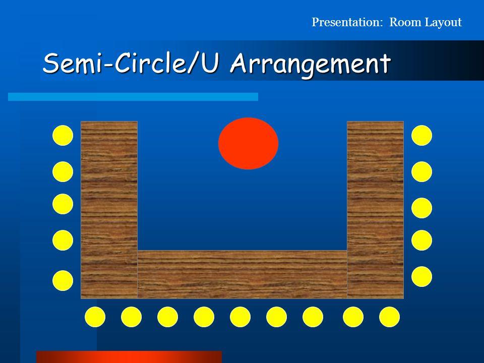 Semi-Circle/U Arrangement