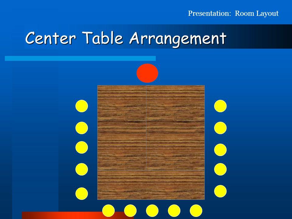 Center Table Arrangement
