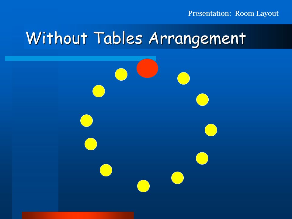 Without Tables Arrangement