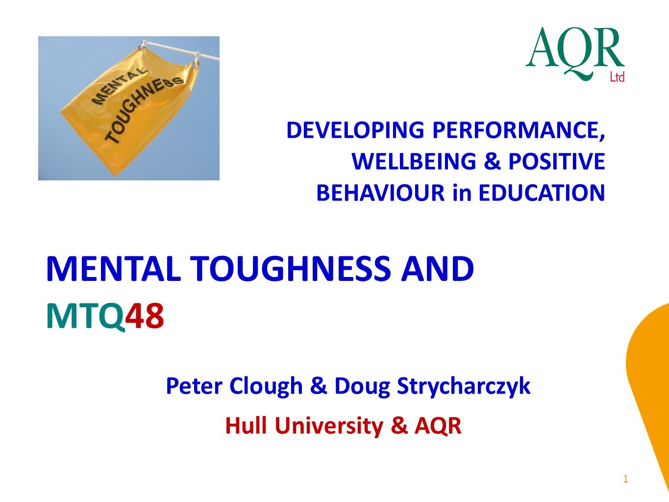 MENTAL TOUGHNESS AND MTQ48