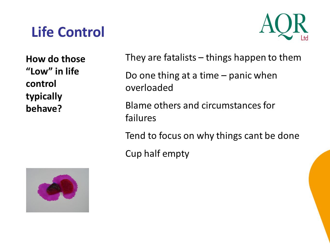 Life Control They are fatalists – things happen to them