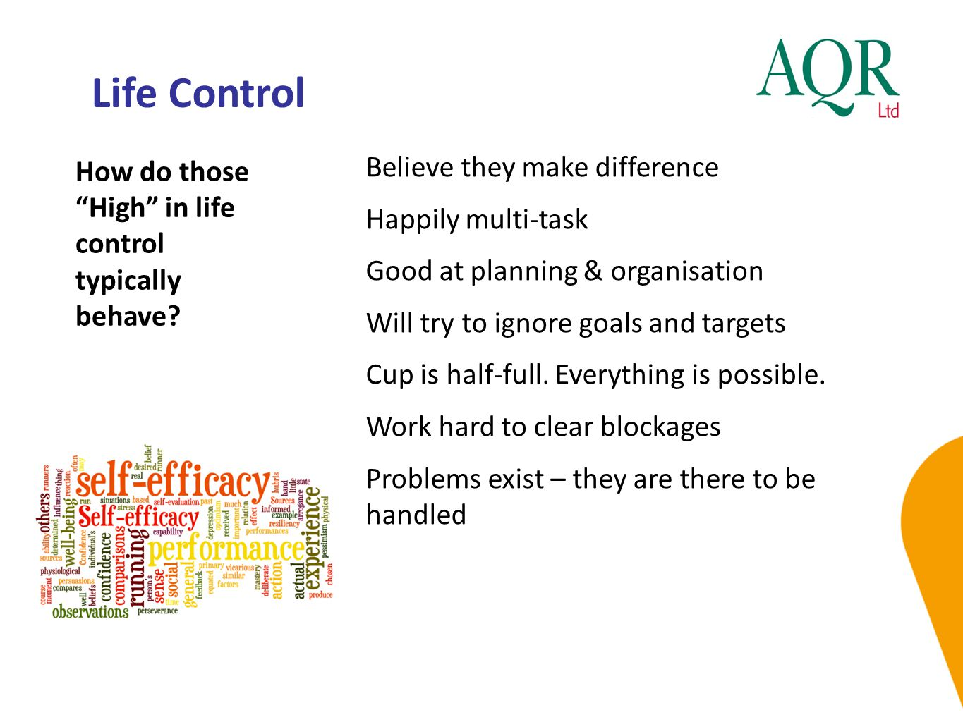 Life Control Believe they make difference