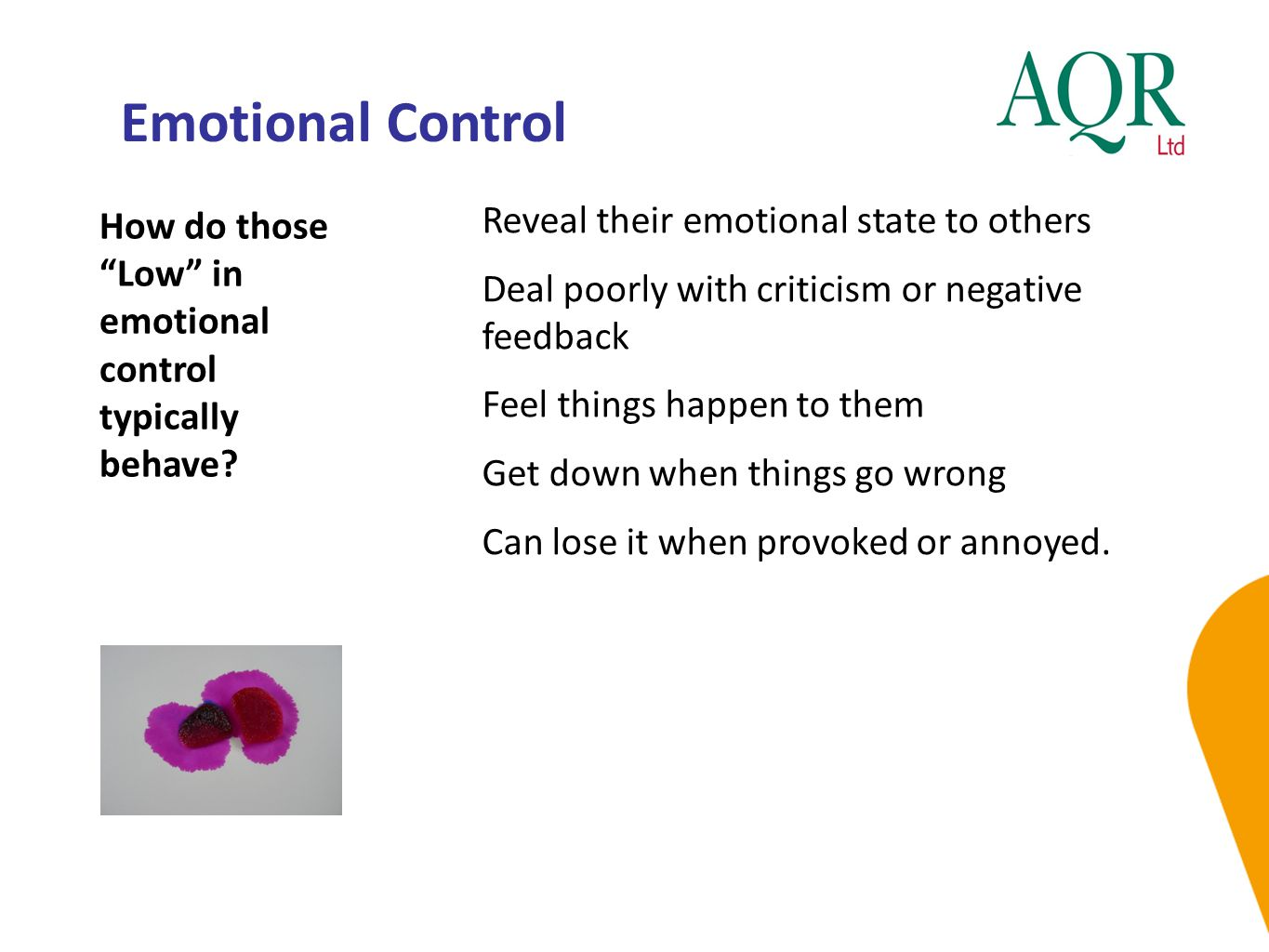 Emotional Control Reveal their emotional state to others