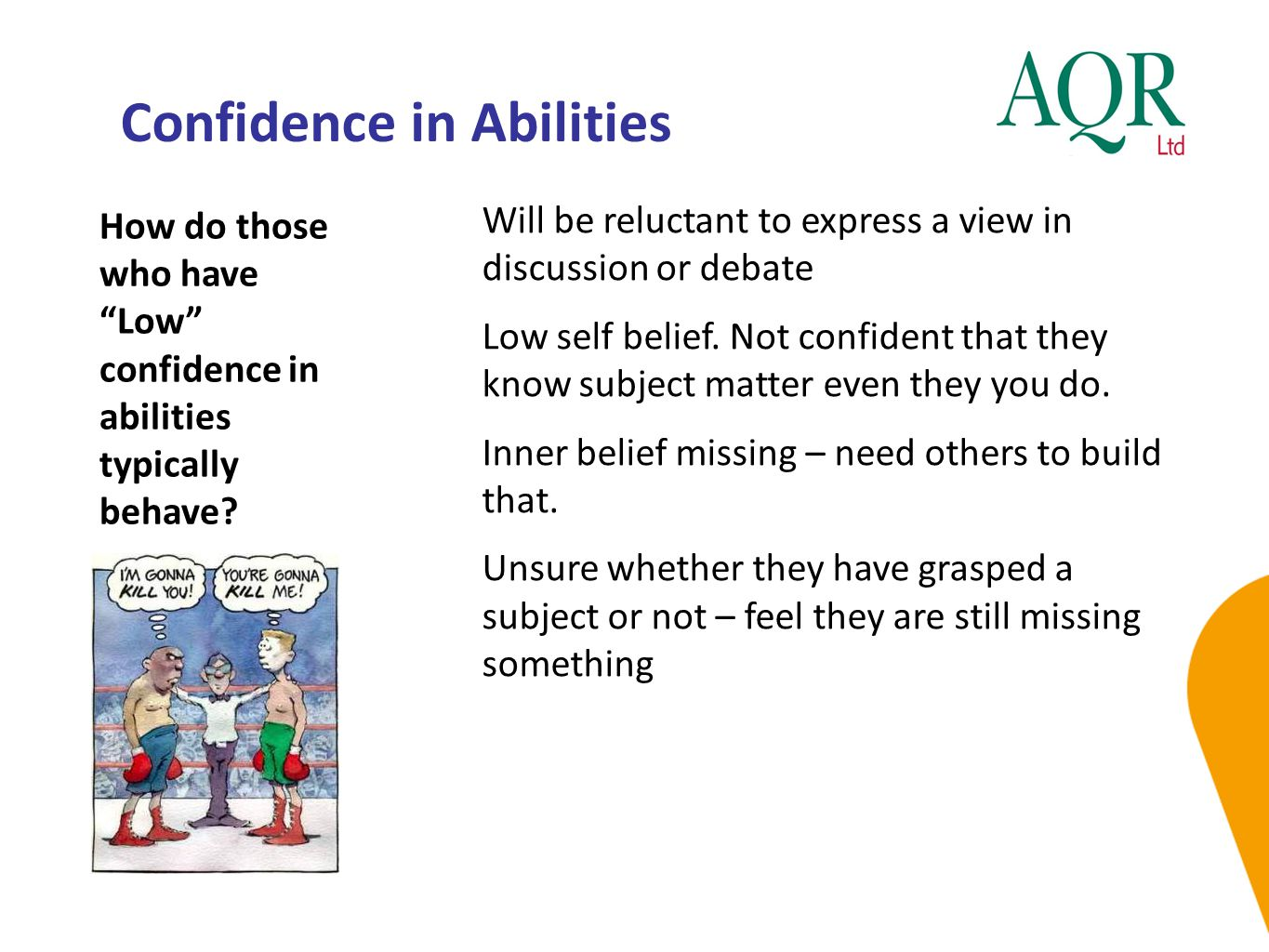 Confidence in Abilities