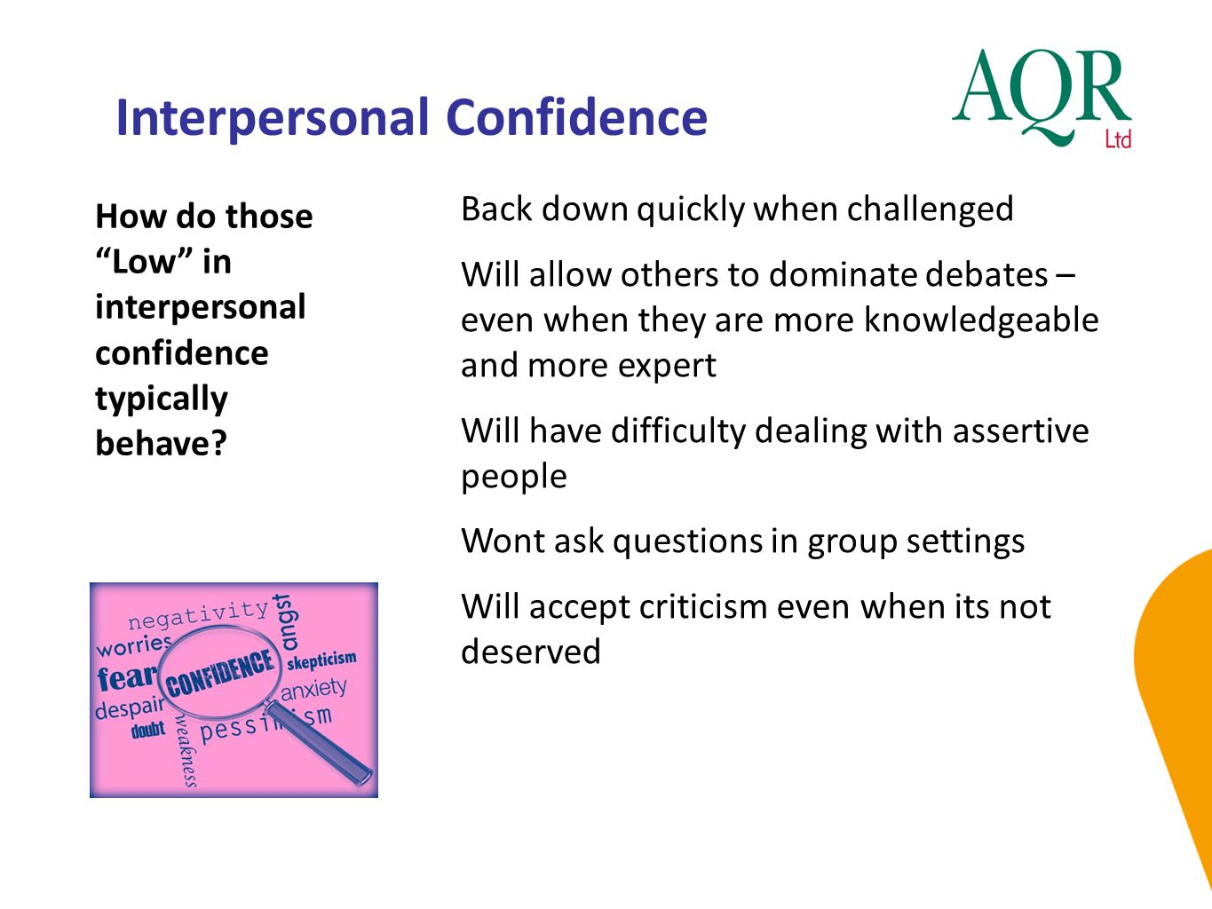 Interpersonal Confidence