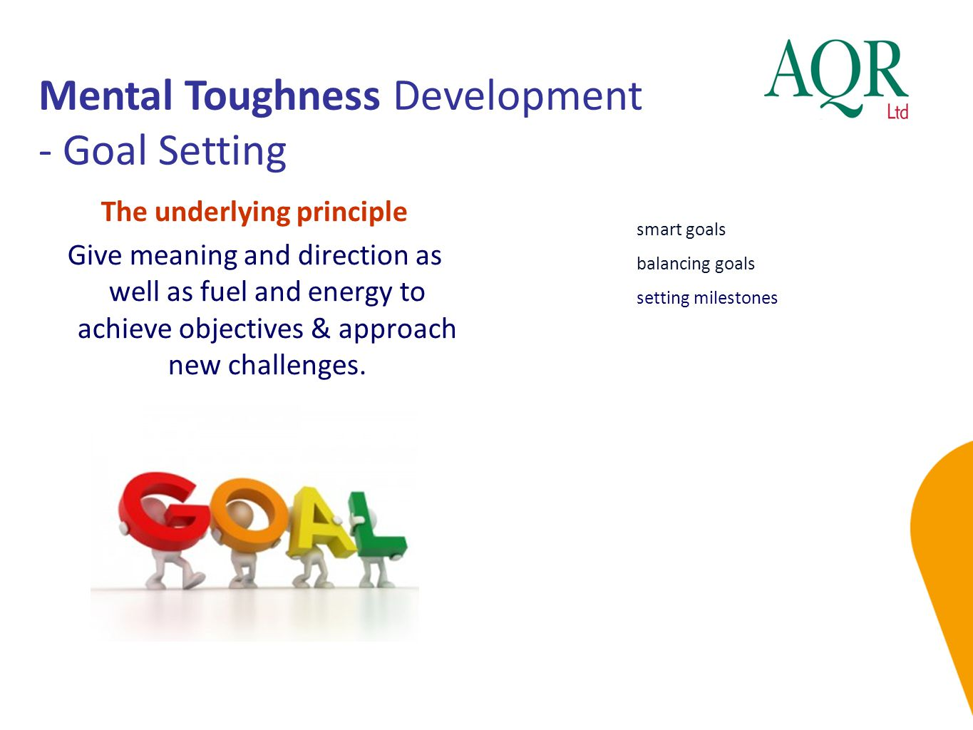 Mental Toughness Development - Goal Setting