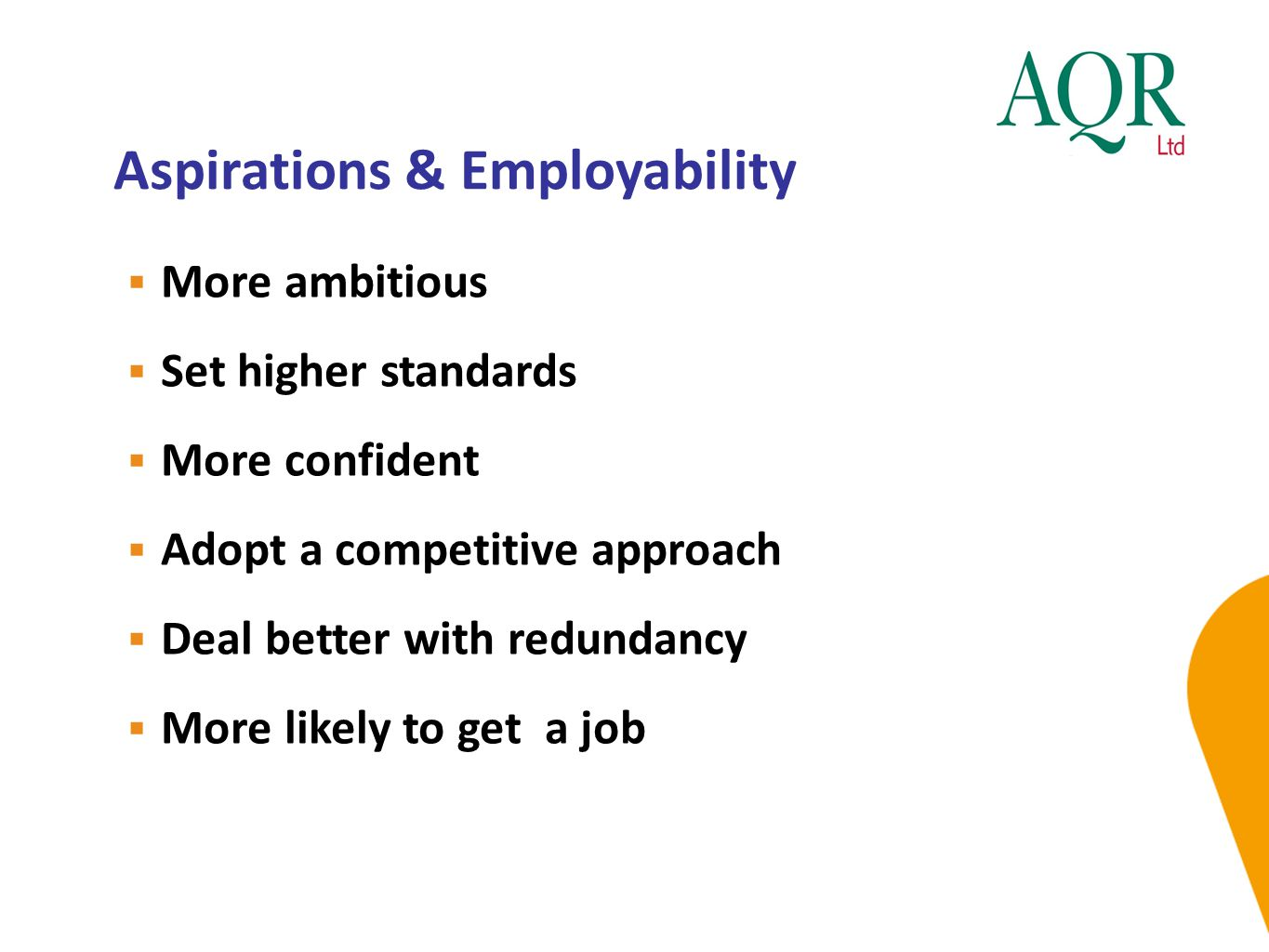 Aspirations & Employability