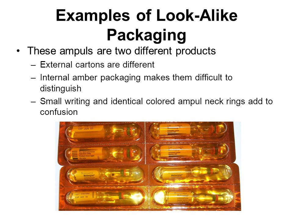 Examples of Look-Alike Packaging
