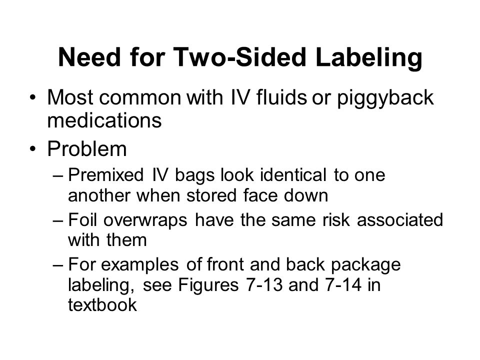 Need for Two-Sided Labeling