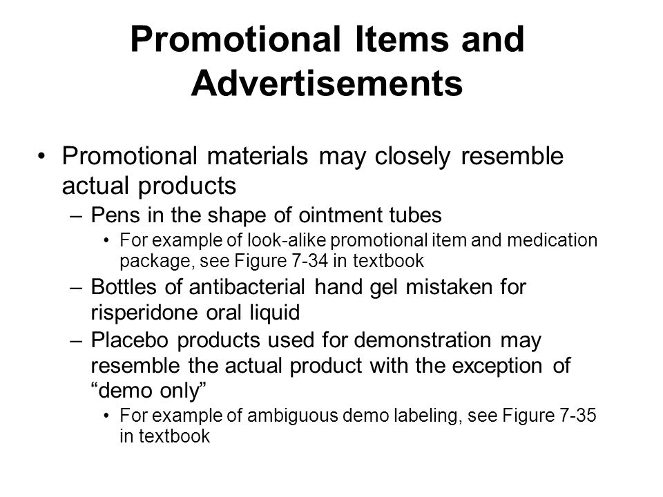 Promotional Items and Advertisements