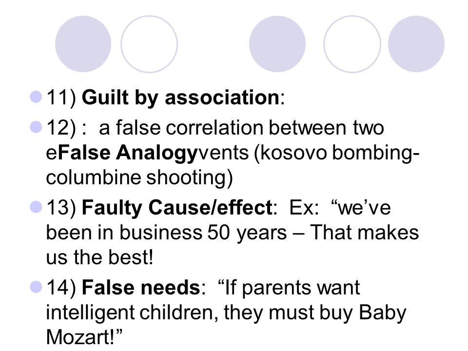 11) Guilt by association: