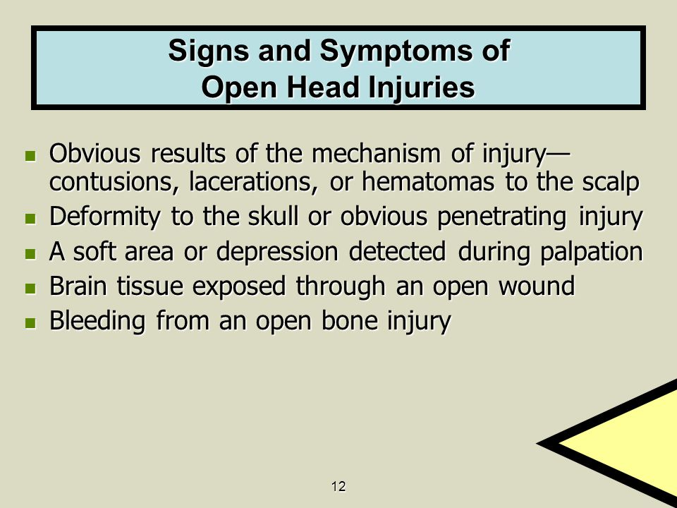 Signs and Symptoms of Open Head Injuries