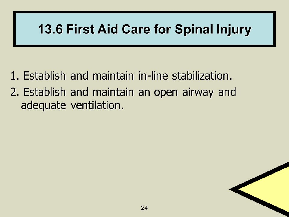 13.6 First Aid Care for Spinal Injury