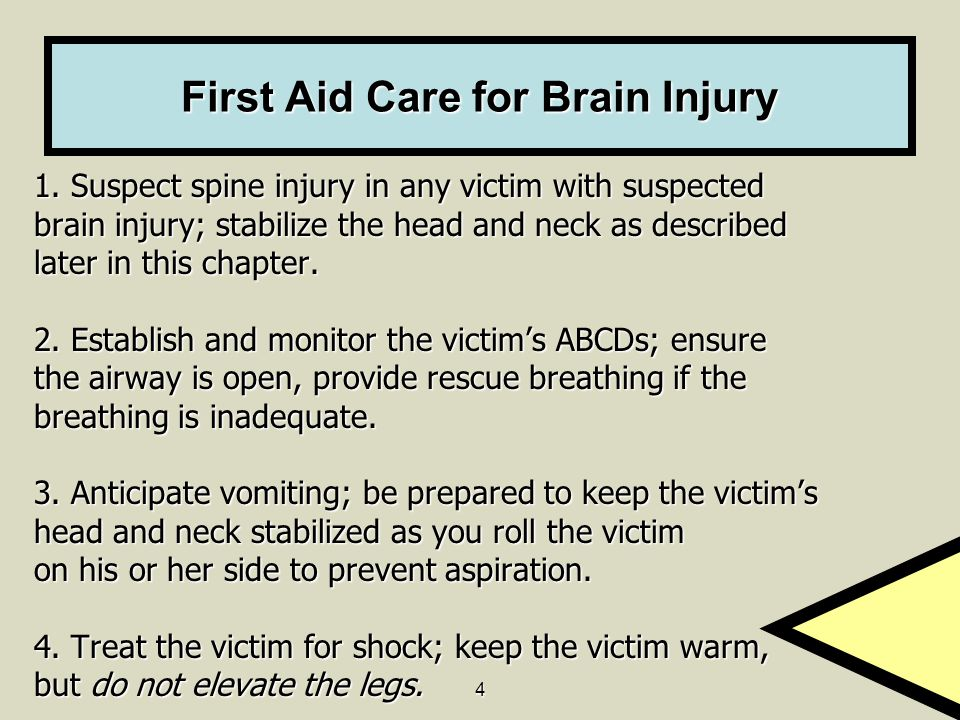 First Aid Care for Brain Injury