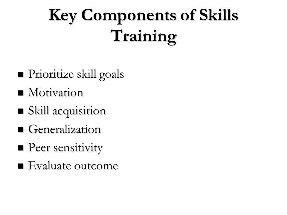 Key Components of Skills Training