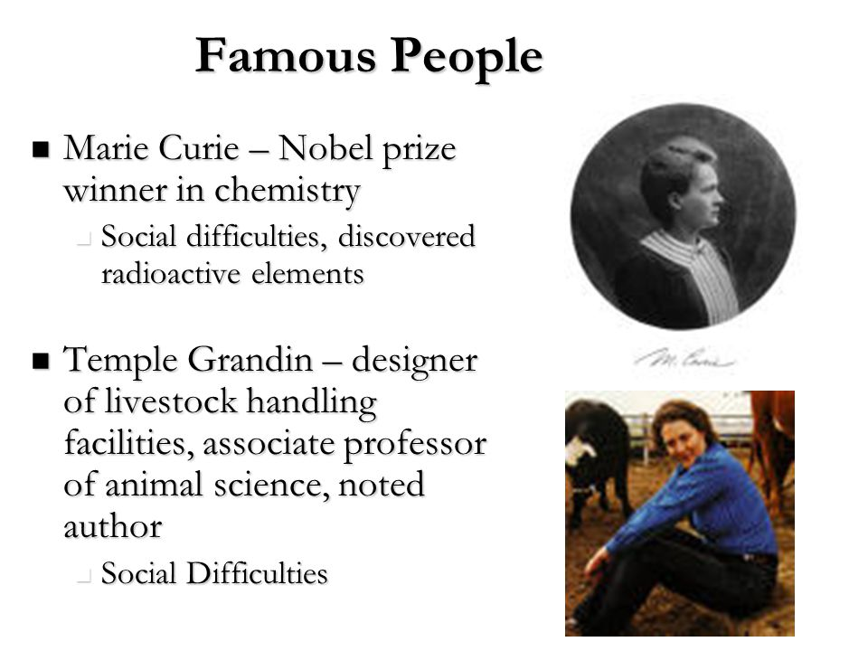 Famous People Marie Curie – Nobel prize winner in chemistry