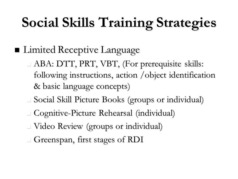 Social Skills Training Strategies