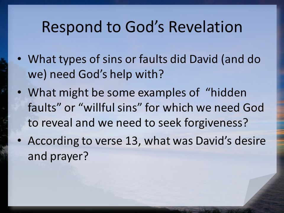 Respond to God's Revelation