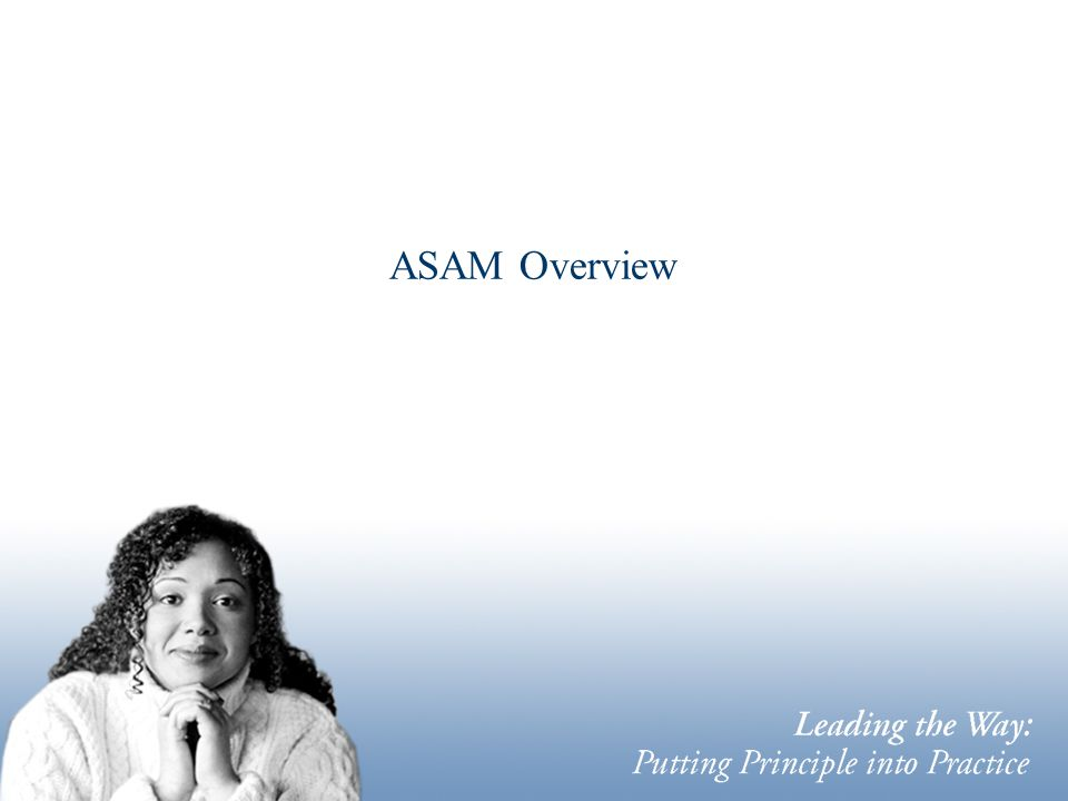 ASAM Overview