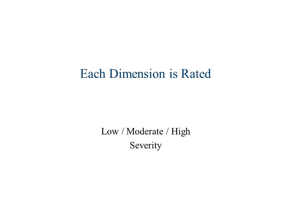 Each Dimension is Rated