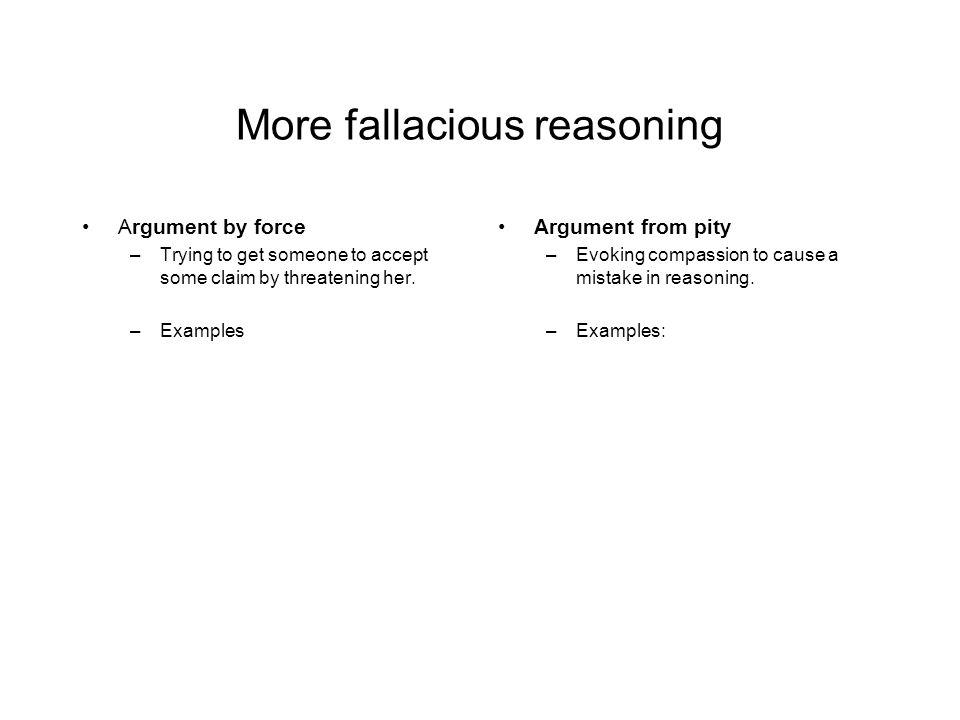 More fallacious reasoning