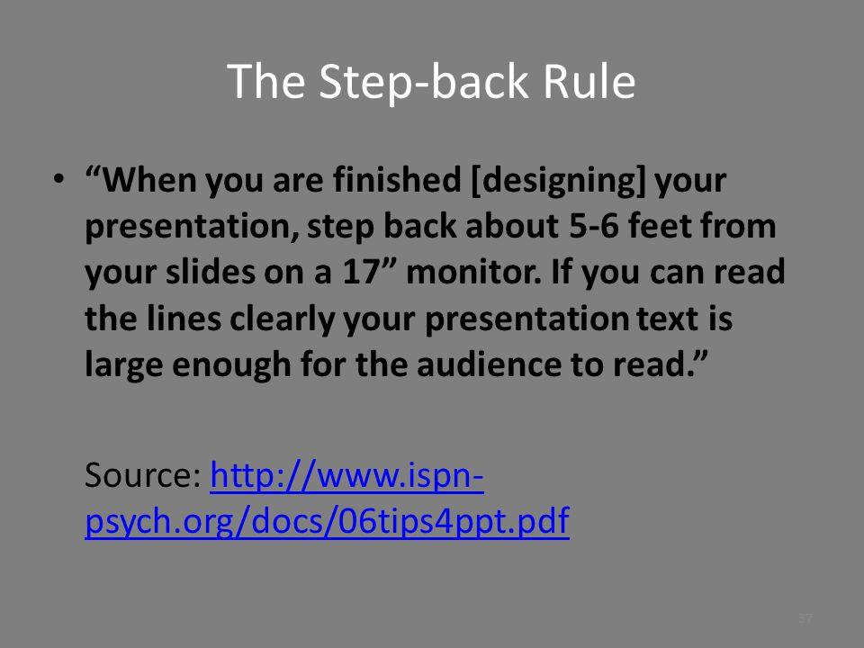 The Step-back Rule
