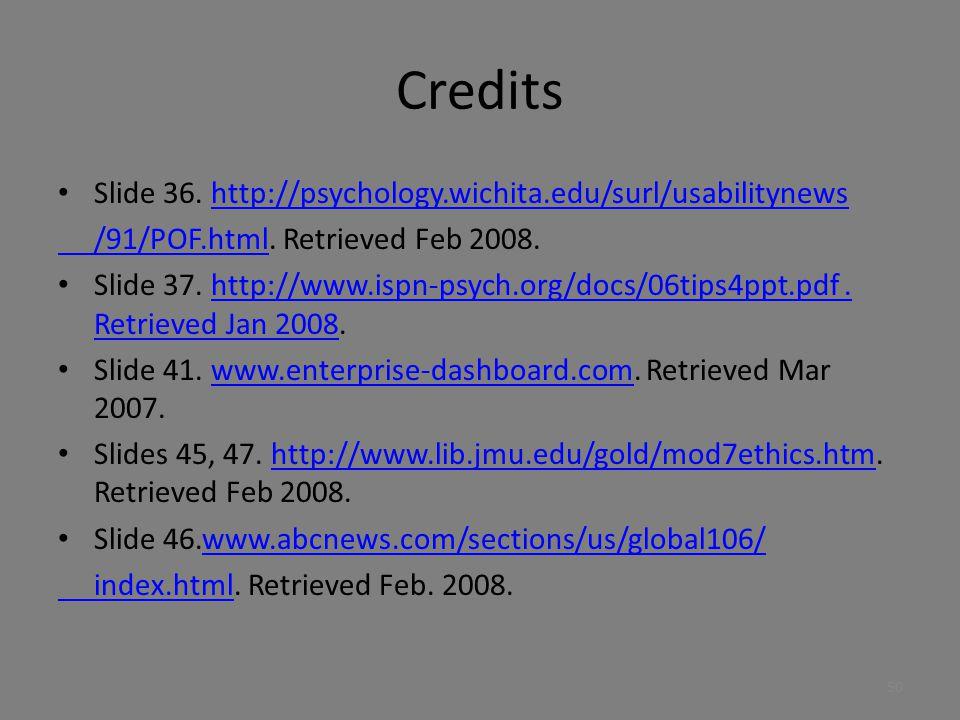 Credits Slide 36. http://psychology.wichita.edu/surl/usabilitynews