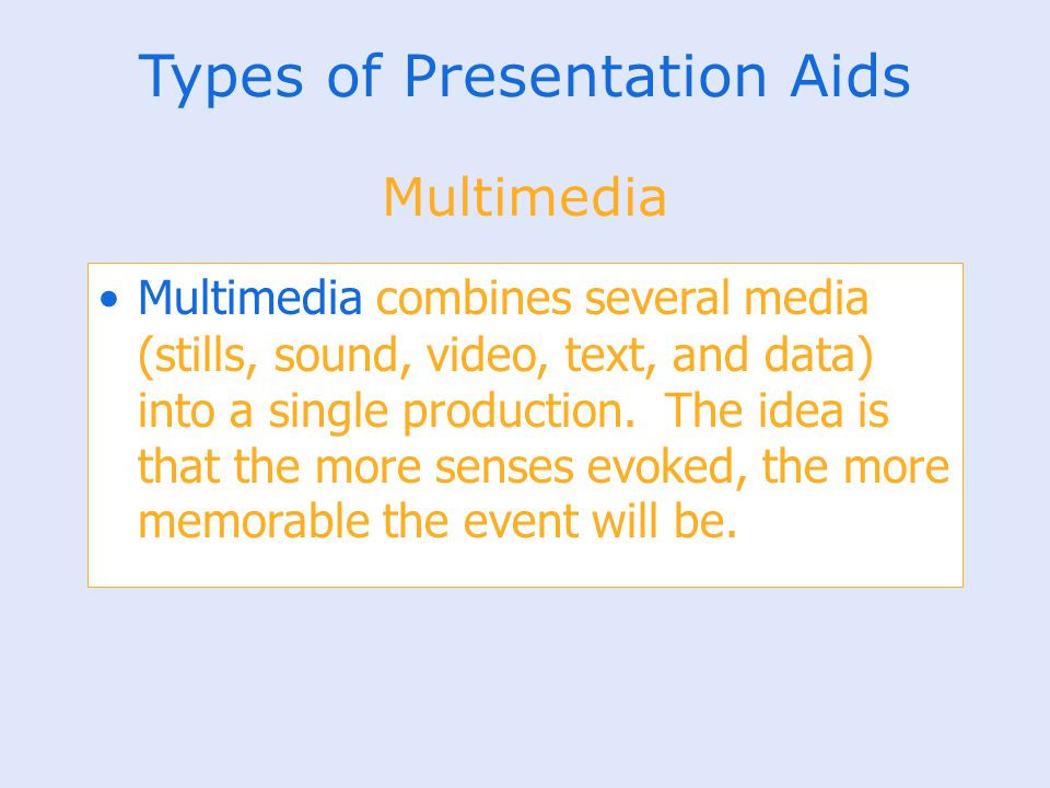 Types of Presentation Aids