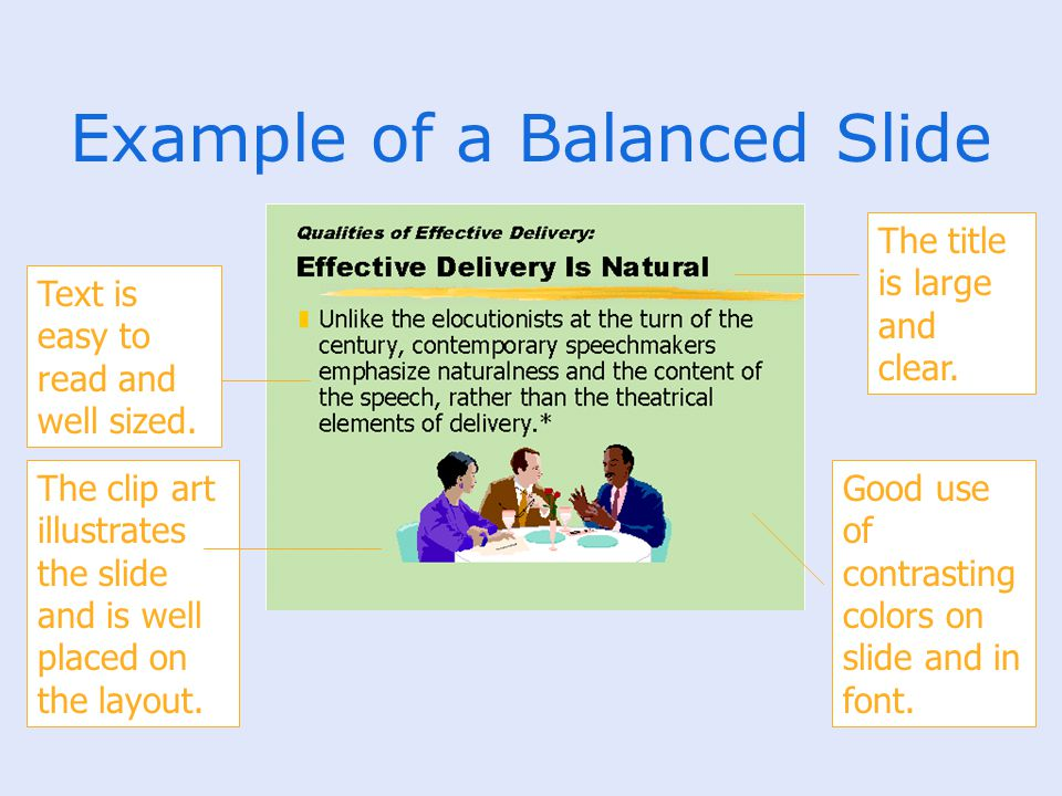 Example of a Balanced Slide