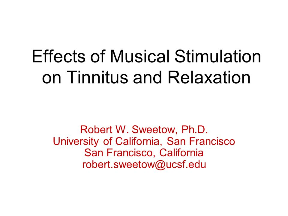 Effects of Musical Stimulation on Tinnitus and Relaxation